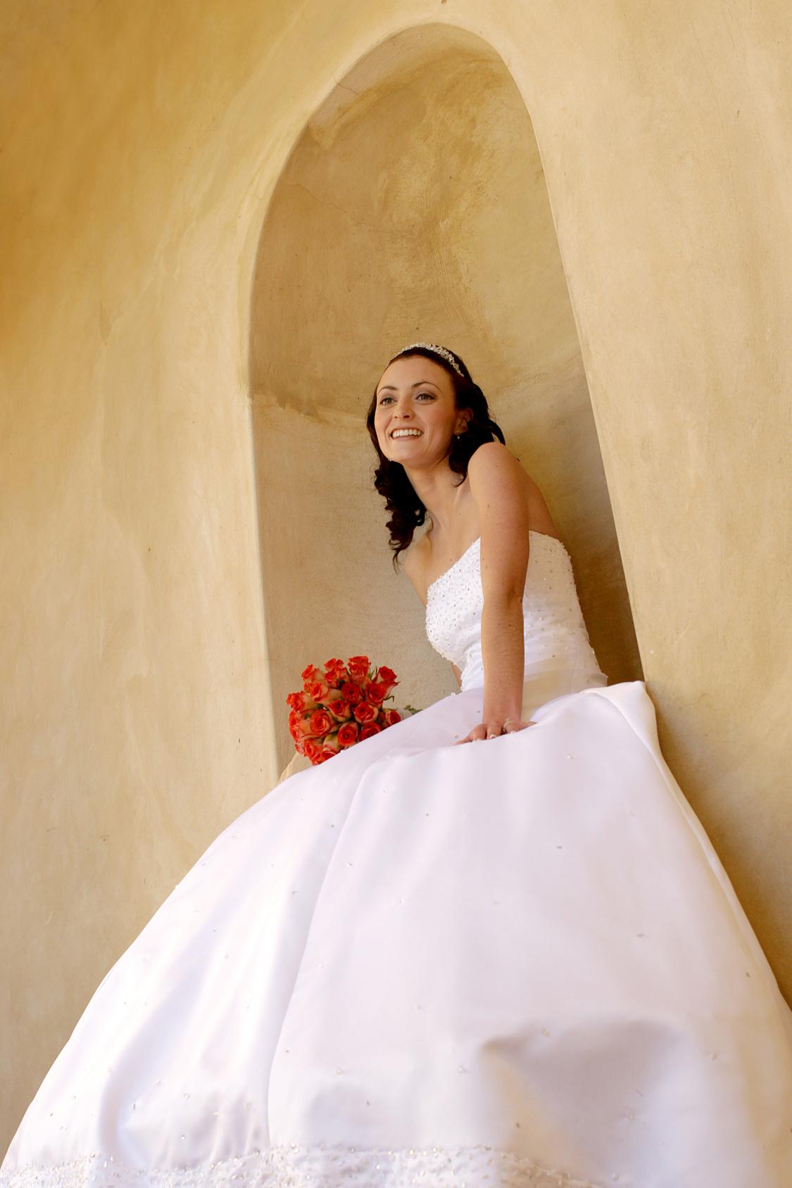 Bride in Arch